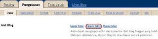 Cara Cepat Memindahkan Seluruh Isi Blog Ke Blog Lain