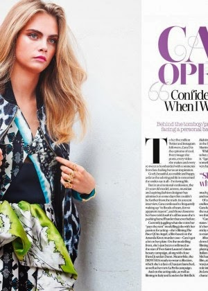 Magazine Photoshoot : Cara Delevingne Photoshoot For Look Magazine January 2014 Issue
