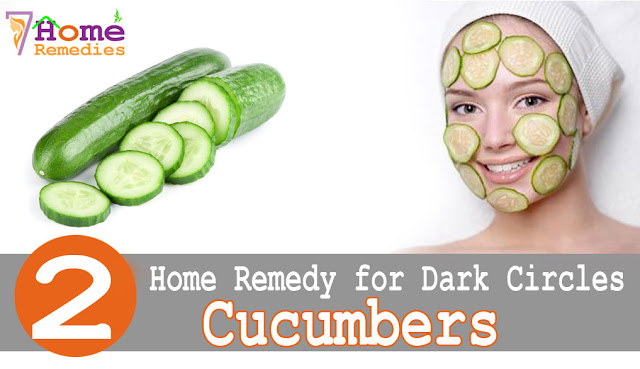 Cucumbers to get rid of dark circles
