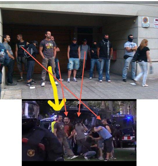 Aquí unos infiltrados de la policía desenmascarados por los ...
