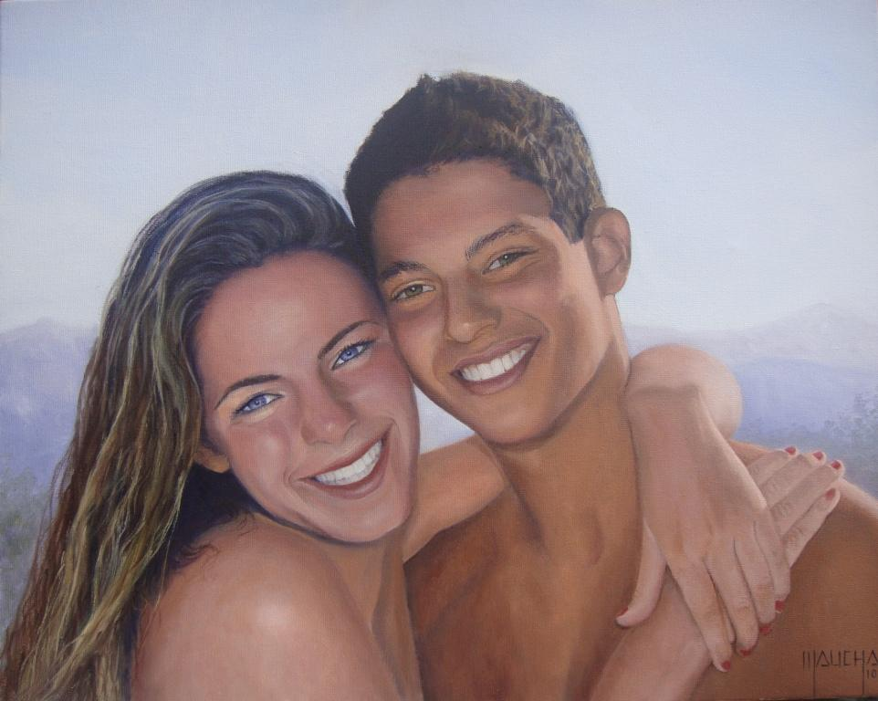 """""""Thiago e Giovanna"""" (40x50 - jun 2010)"""