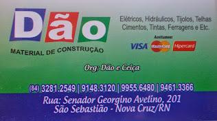 DÃO MATERIAL DE CONSTRUÇÃO - NOVA CRUZ - RN (84) 3281 2549