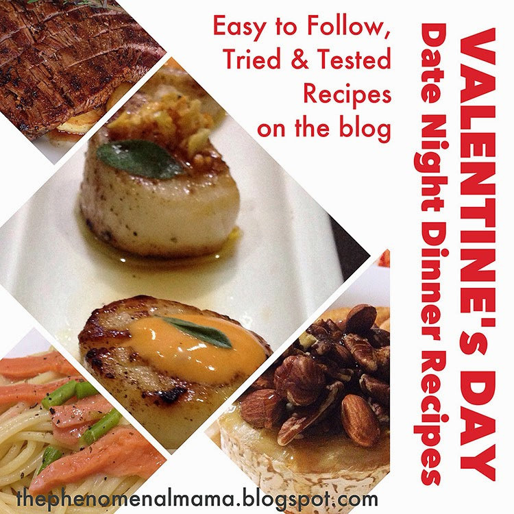 The phenomenal mama how to cook a romantic valentine 39 s for Romantic valentine recipes for two