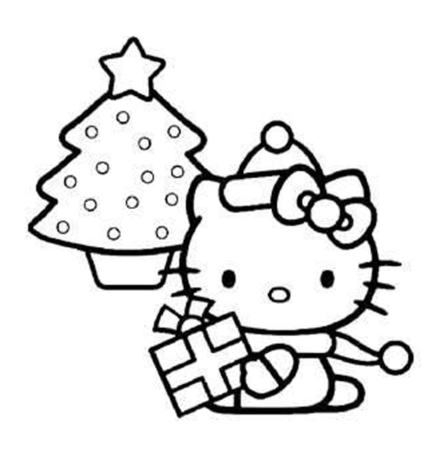 pretty hello kitty coloring pages - photo#4