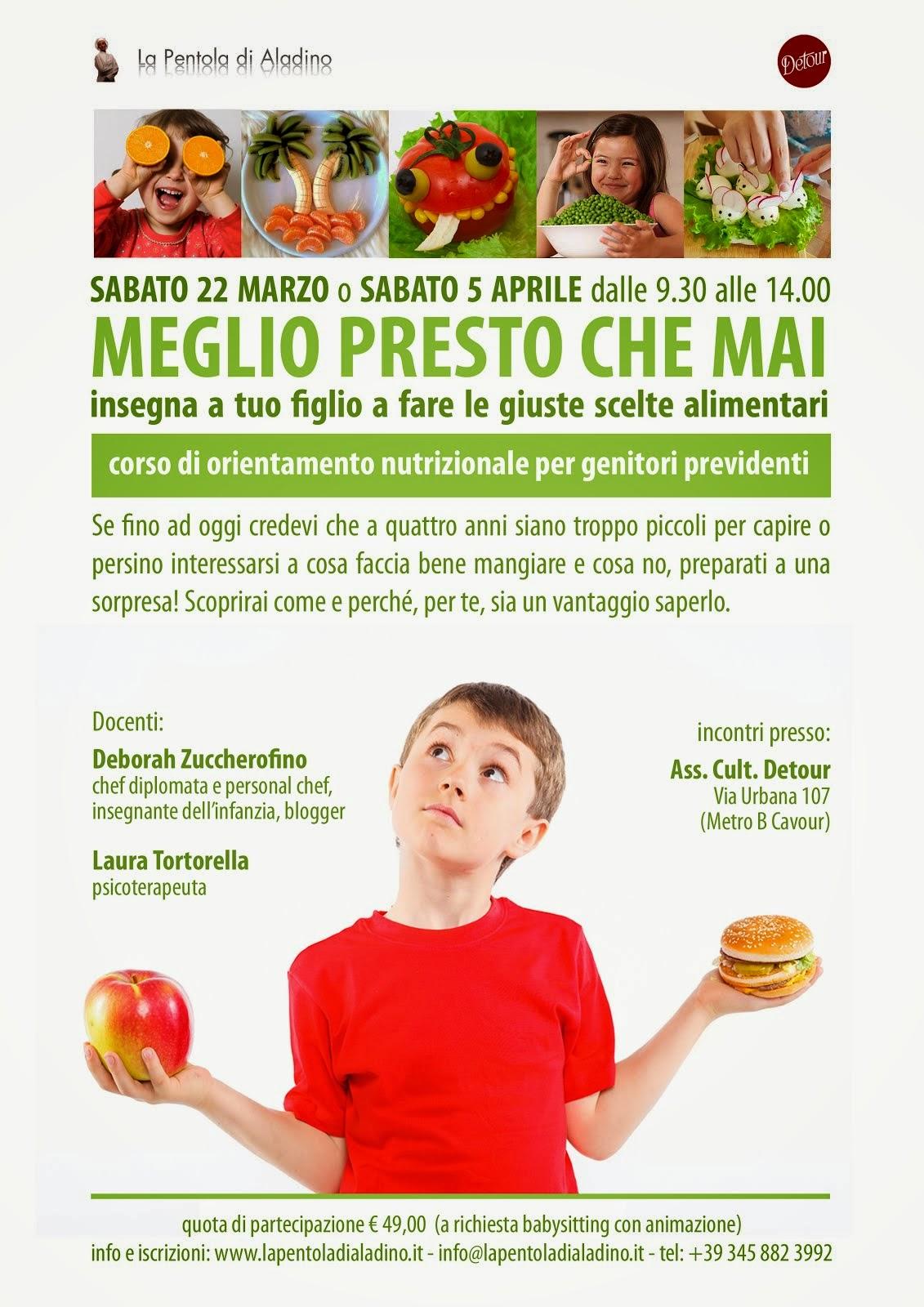 Corso di orientamento nutrizionale per genitori