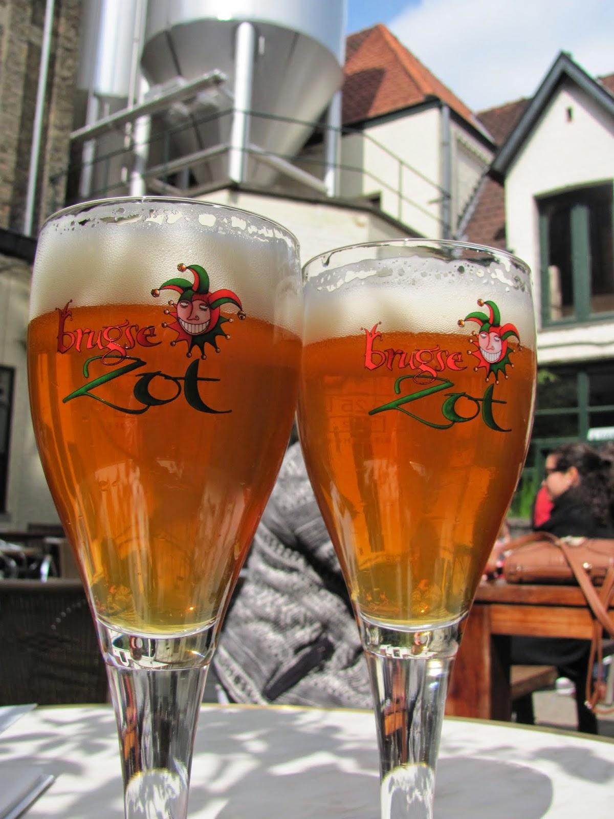 Brugse Zot at Halve Maan Brewery Bruges, Belgium