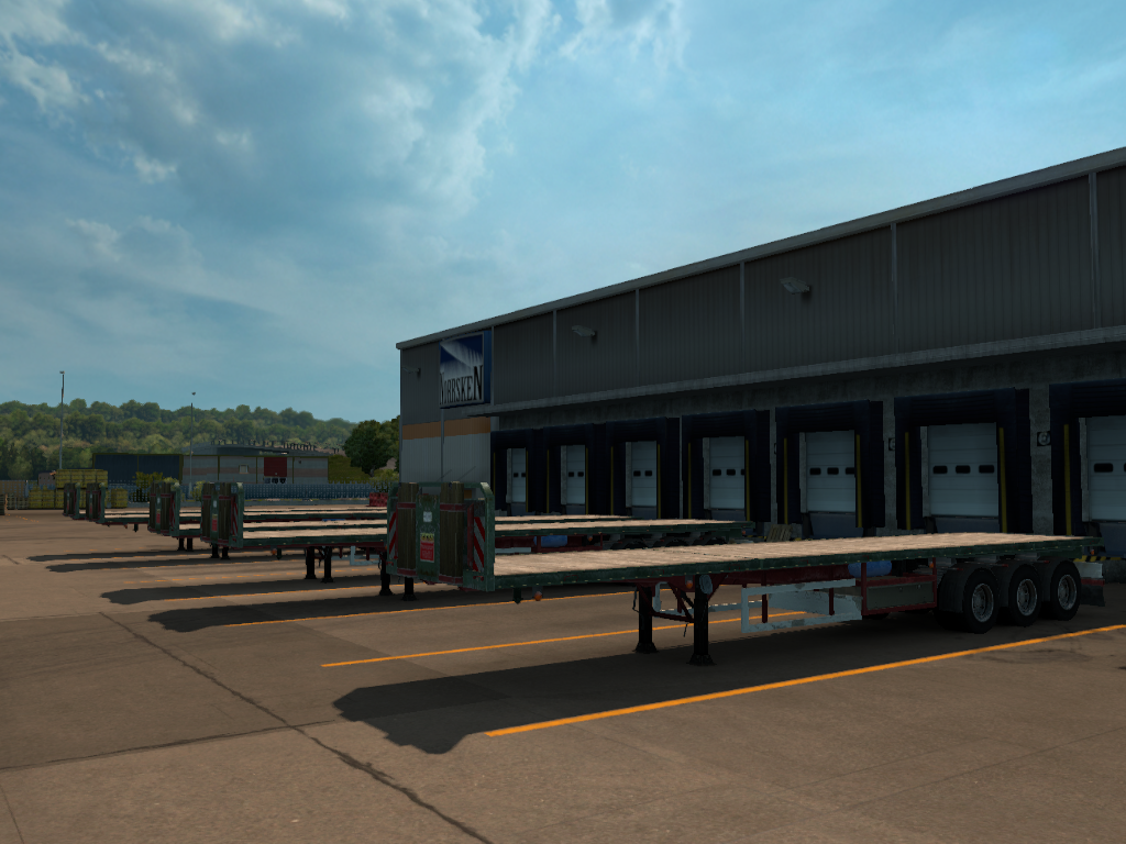 All Empty Flatbed Trailer | ETS2MP-MODS