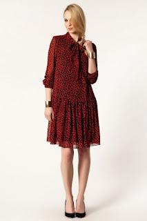 kırmızı kısa elbise modeli