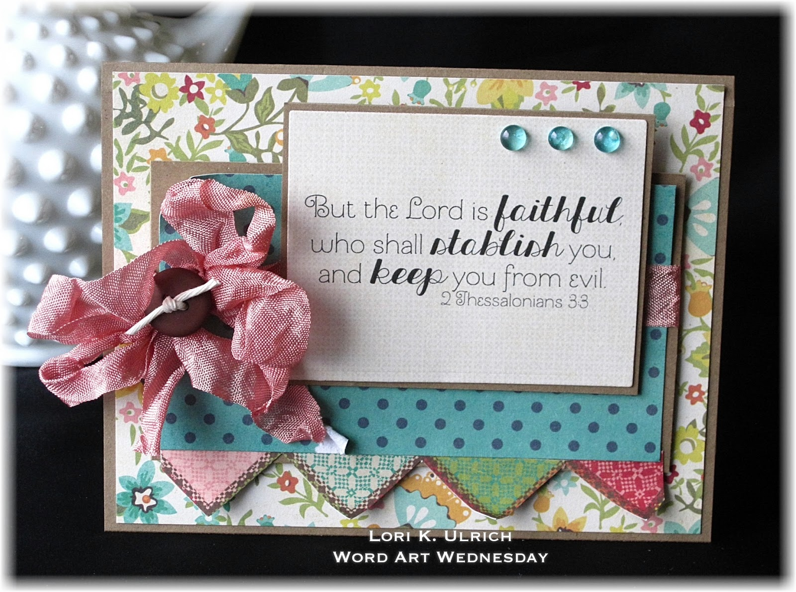Papercrafts by saintsrule word art wednesday 2 thessalonians 3 3 - Hemp rope craft ideas an authentic rustic feel ...