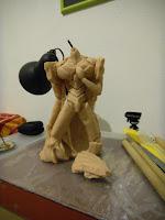 orme magiche eva 01 neon genesis evangelion modellini statuette sculture scultura action figure personalizzate fatta a mano stampo in resina super sculpey milliput