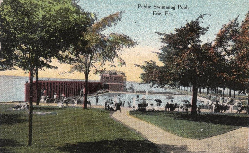 Swimming Pool Postcard Public Swimming Pool Erie