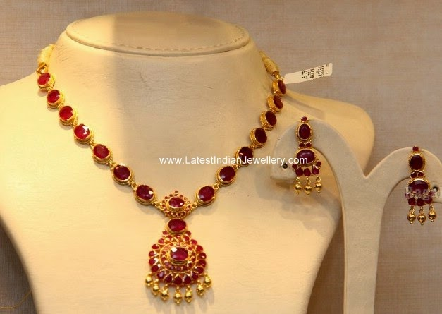 Pota Rubies Gold Necklace