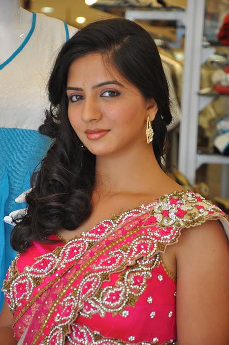 South New Desi Actress Nisha Shah Latest Cute Saree Photos unseen pics
