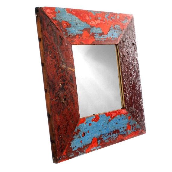 Espelho de madeira demolição