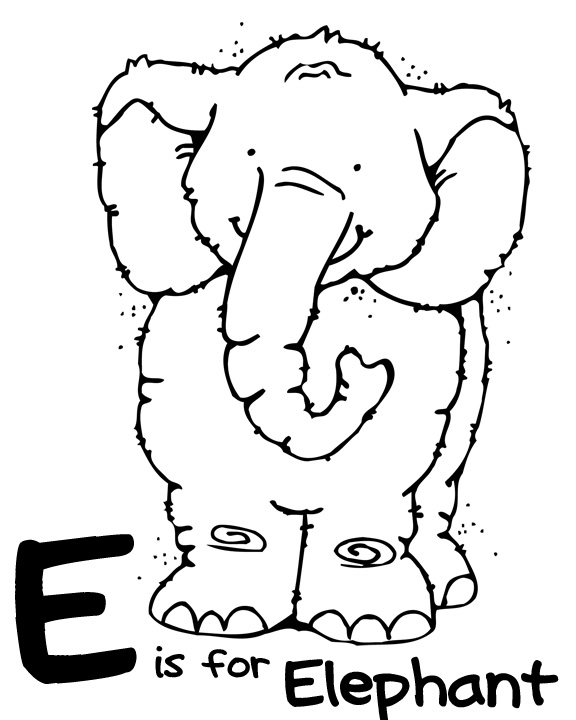 Preschool Letter E Coloring Pages