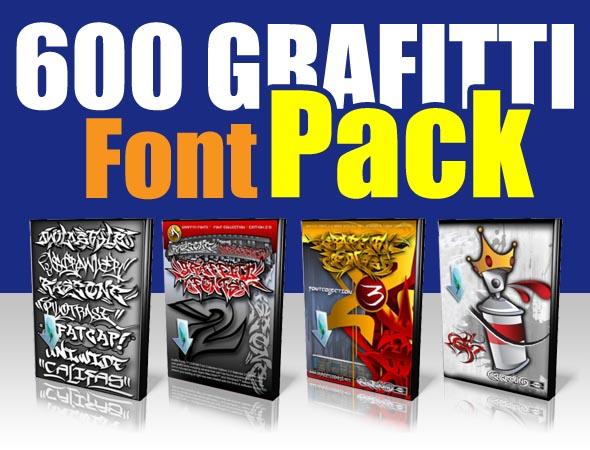 Download Ninequadrat: Download 600 Graffiti Font Pack