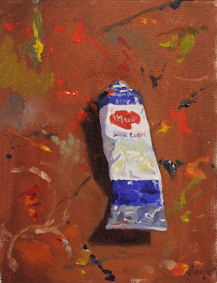 "Ultramarine on Masonite, 2012, Oil on Board, 12""x 9"""