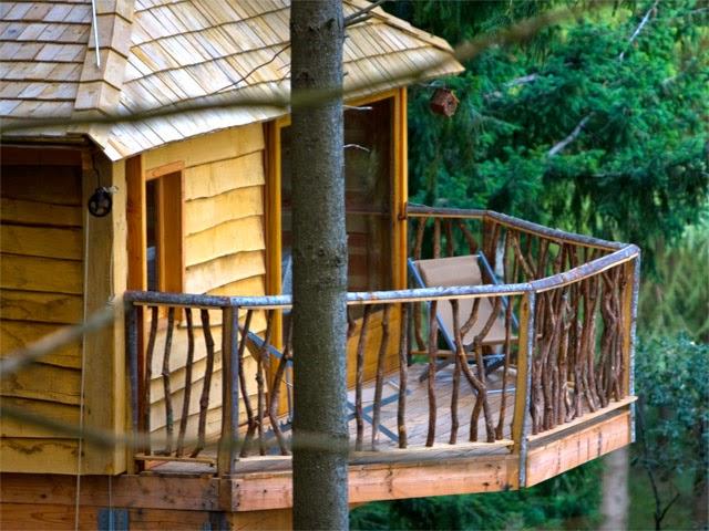 Hoteles con encanto: Cabañas colgadas en los arboles