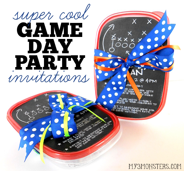 Make your Super Bowl party stand out from all the rest with these AMAZING invitations at my3monsters.com
