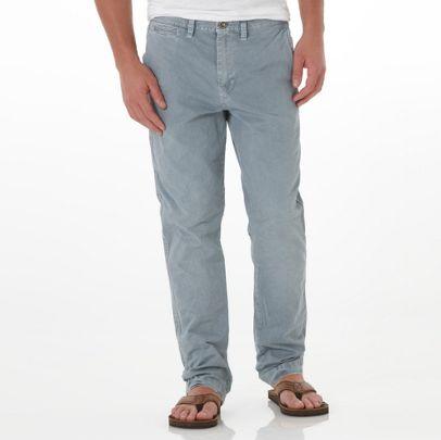 Men Fashion Dresses Blue Tent Color Cotton Slim Pant For Men - American Eagle Outfitters Pants