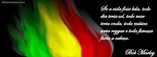 Capa - Fumaça - Frases de Bob Marley - Capas para Facebook