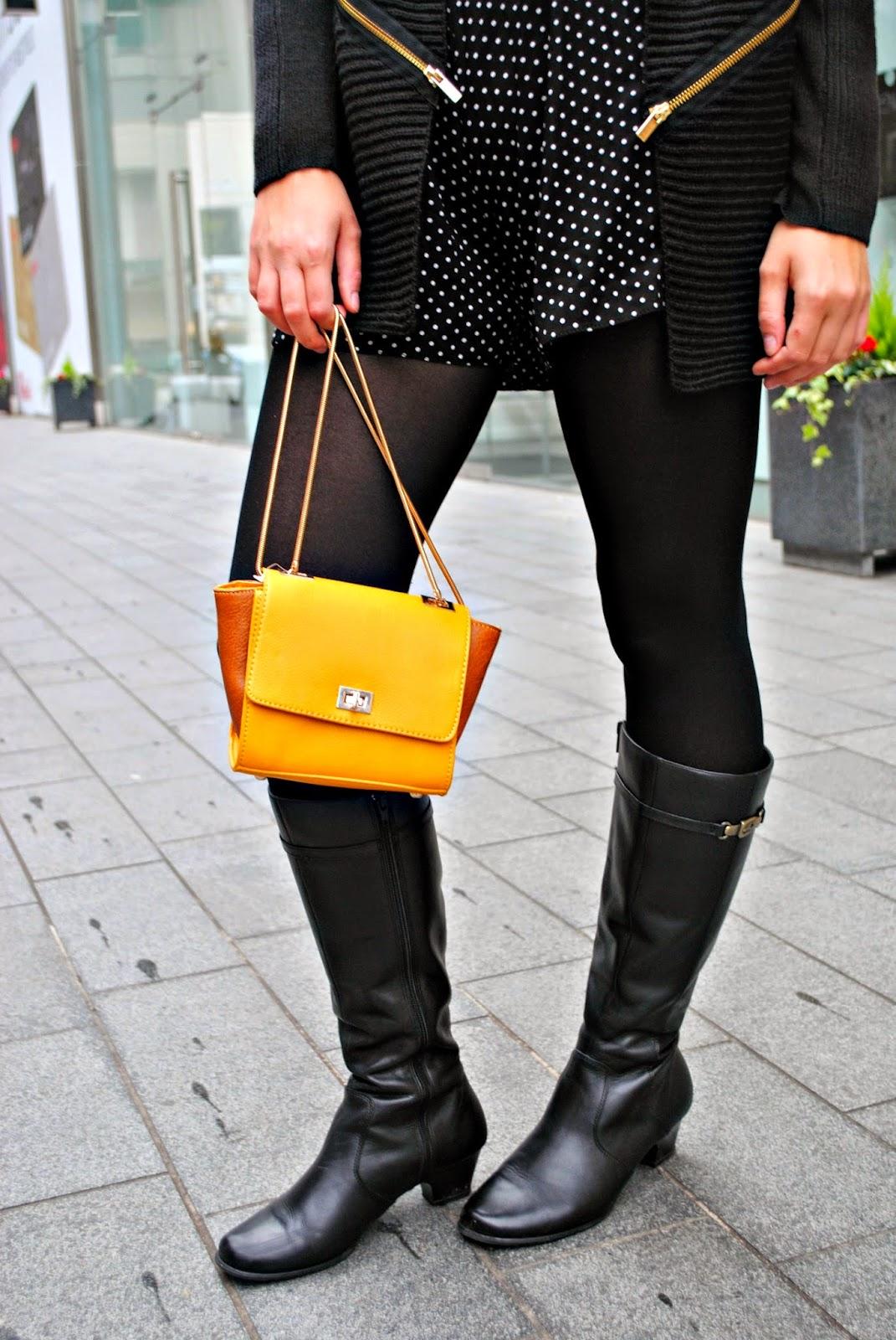 Autumn River Island London Fashion post mini handbag