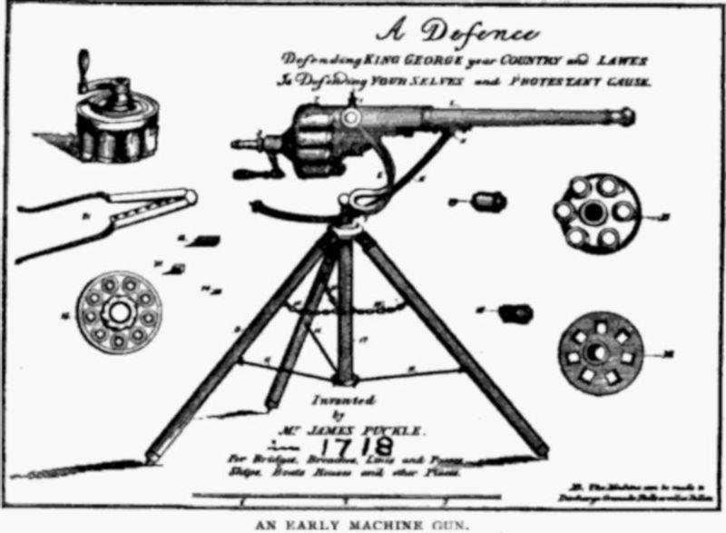 machine gun invention