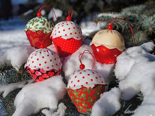 новогодний декор кексы тильда