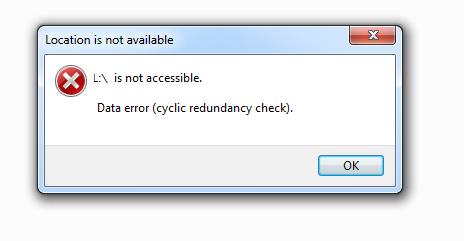cara memperbaiki hardisk external data error cyclic redundancy check