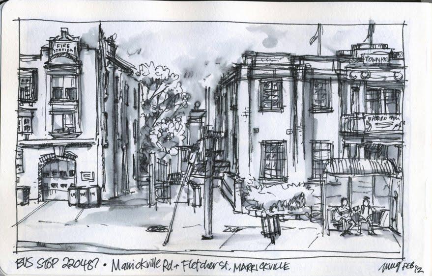 Urban Sketchers Australia More Bus Stops
