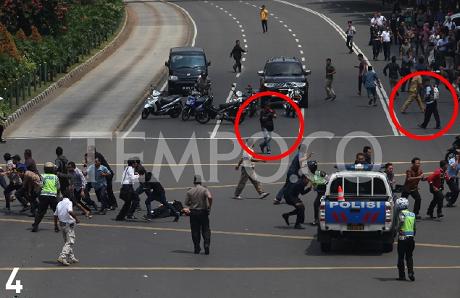 Foto Penembakan Sarinah, Jakarta
