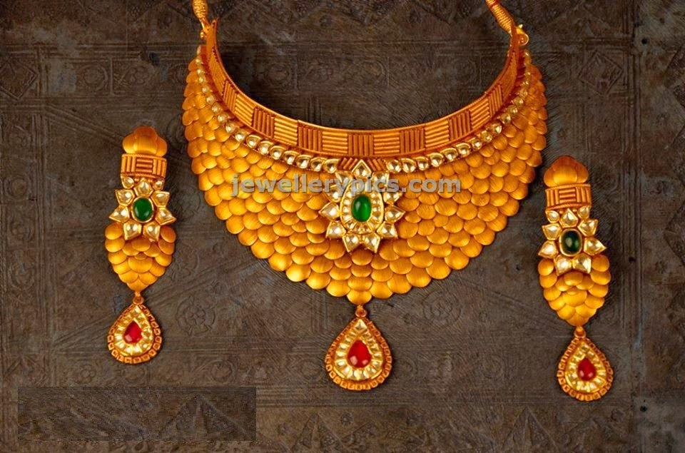 bridal gold choker fusion jewellery