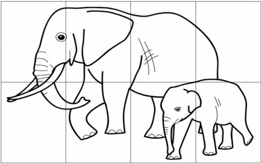 Cahiers de vacances koala maternelle puzzles el phant for Puzzle a colorier gratuit