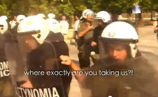 European Democracy Greek Bankers Fascist Police State VS Society