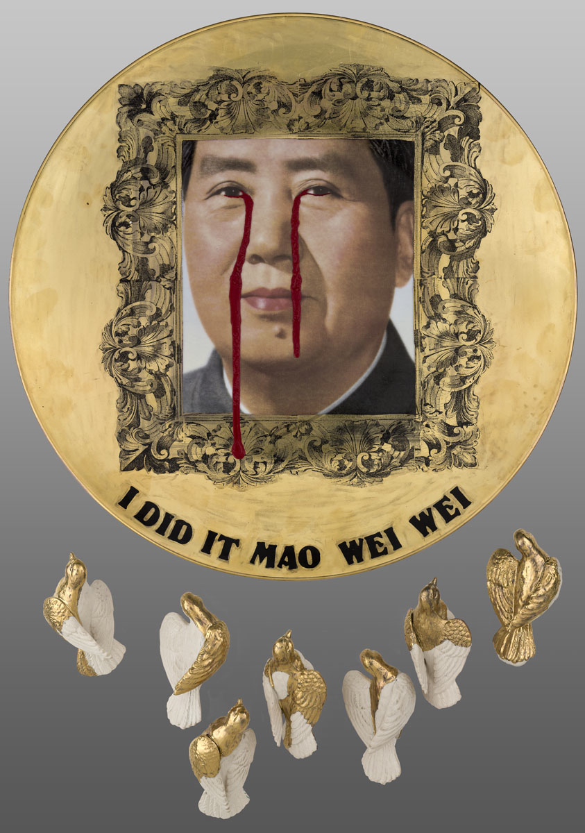 Another work on the table drew particular interest, namely a platter by Julie Lovelace titled 'I did it Mao Wei Wei'. Lovelace came across this plate ... - %2BJulie%2BLovelace
