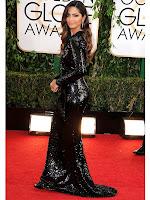Камила Алвес рокля с шлейф Dolce & Gabbana Златен глобус 2014