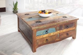 dreveny konferencny stolik, stolik truhlica s uloznym priestorom z dreva.