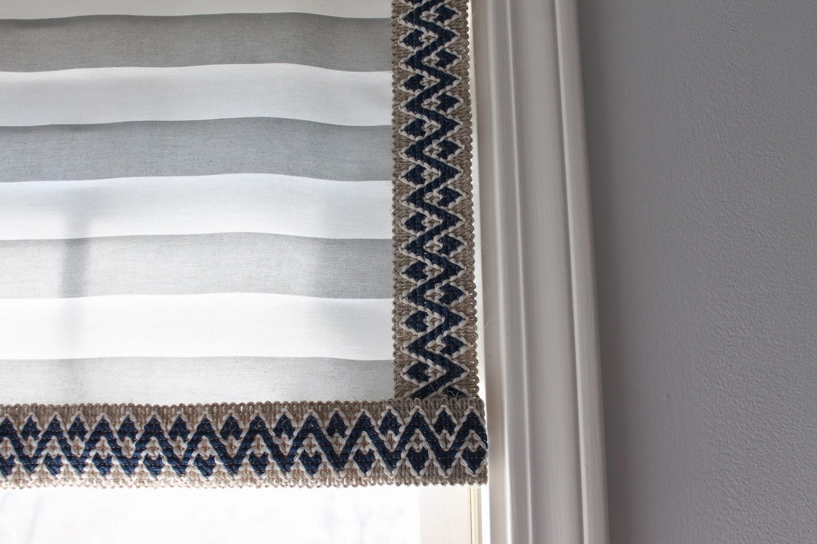 window valance with a glue gun
