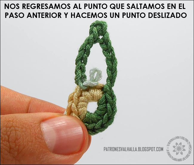 Flor de Seis pétalos a Crochet IV (foto-tutorial) - PATRONES ...