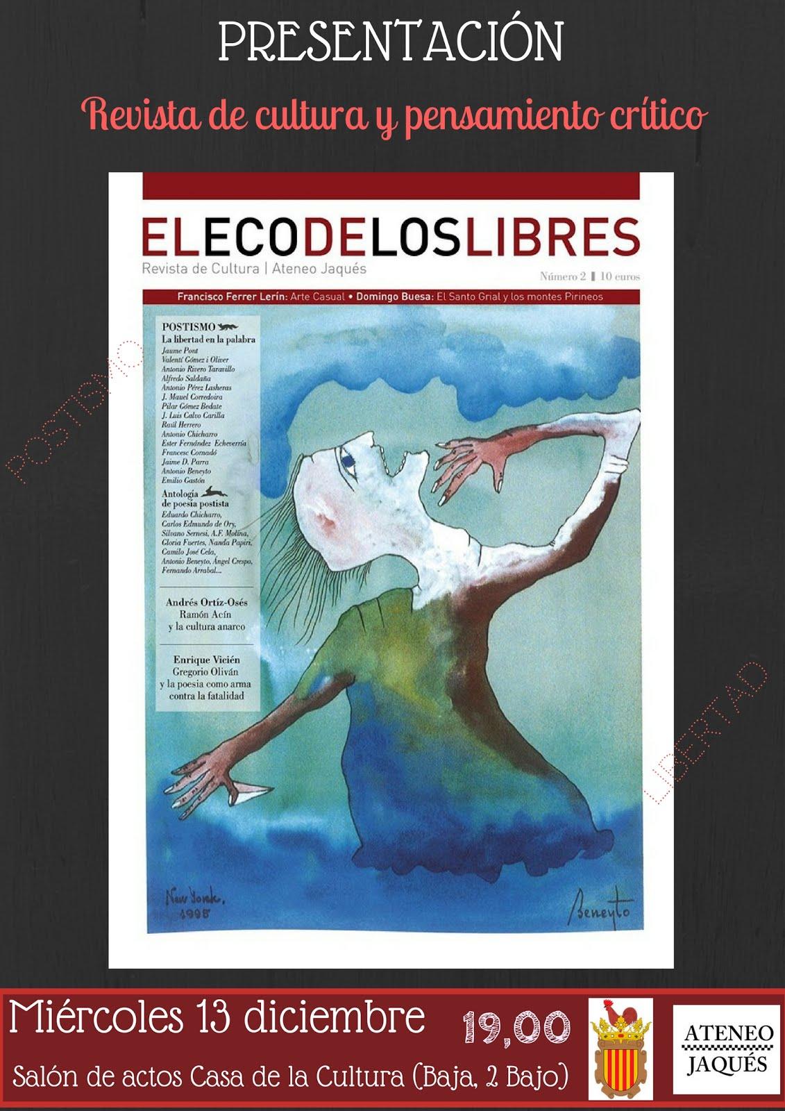 """GALLUR (Zaragoza): Presentación """"El eco de los libres"""""""