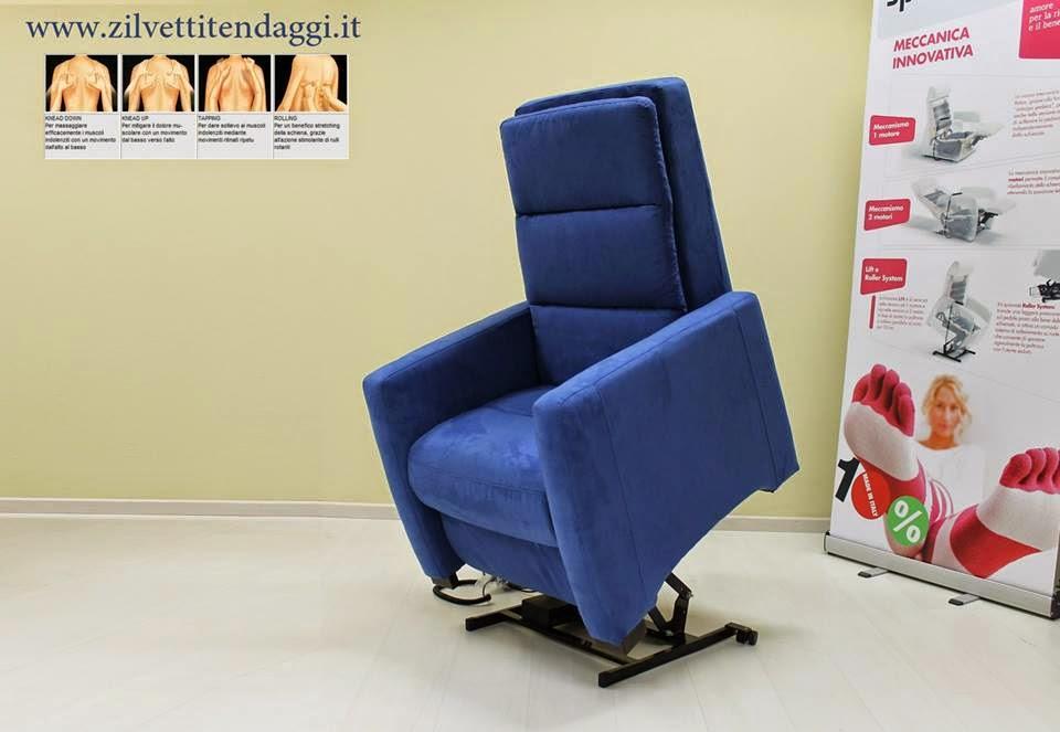 Poltrona massaggio shiatsu relax, 2 motori indipendenti con lift ...