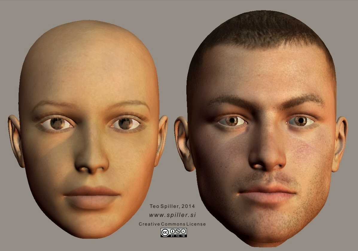 Face Type with Defined Cheeks