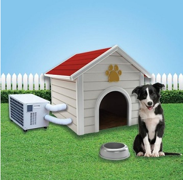 pets offmag climateright dog house air conditioner heater. Black Bedroom Furniture Sets. Home Design Ideas