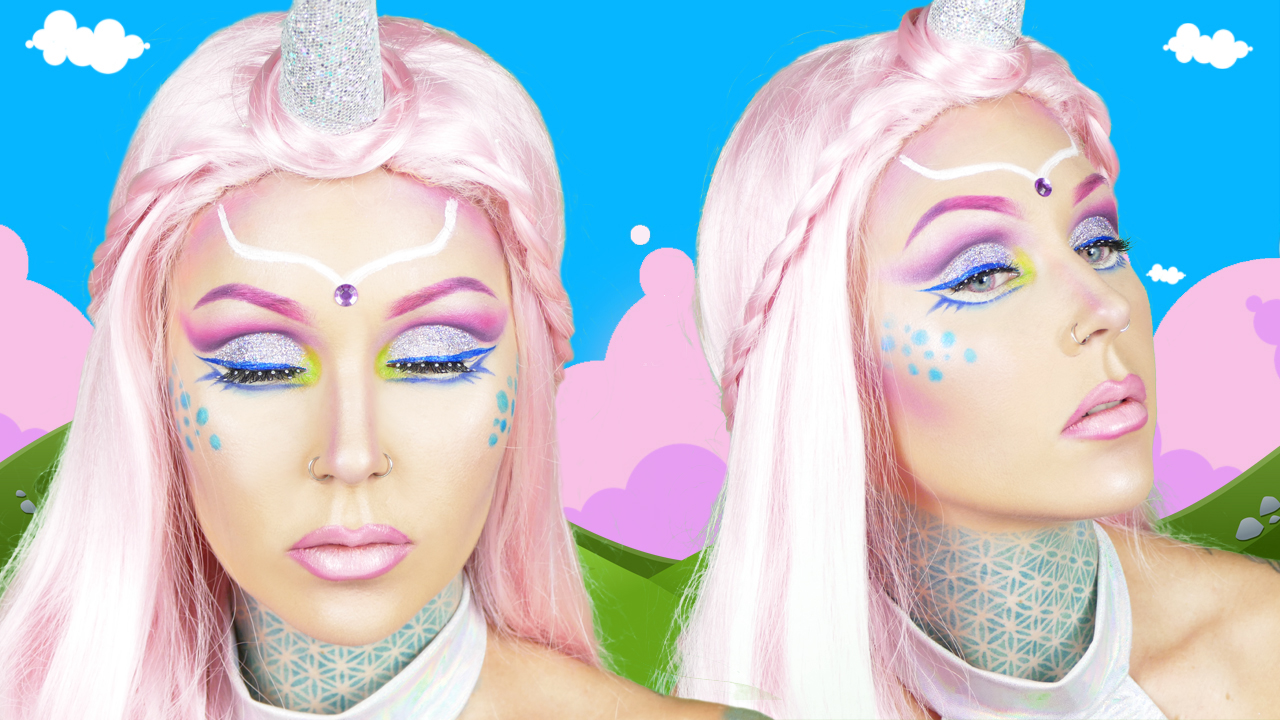 Unicorn makeup tutorial on awesomeness tv kristen leanne style i created this looktutorial for awesomeness tv on youtube i know some of you have been waiting for this look to come out for a baditri Choice Image