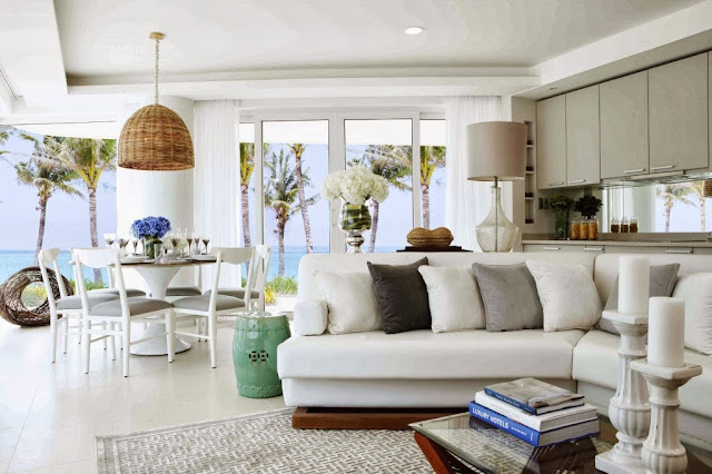 fresh main area scheme that is close to the awe-inspiring sea view
