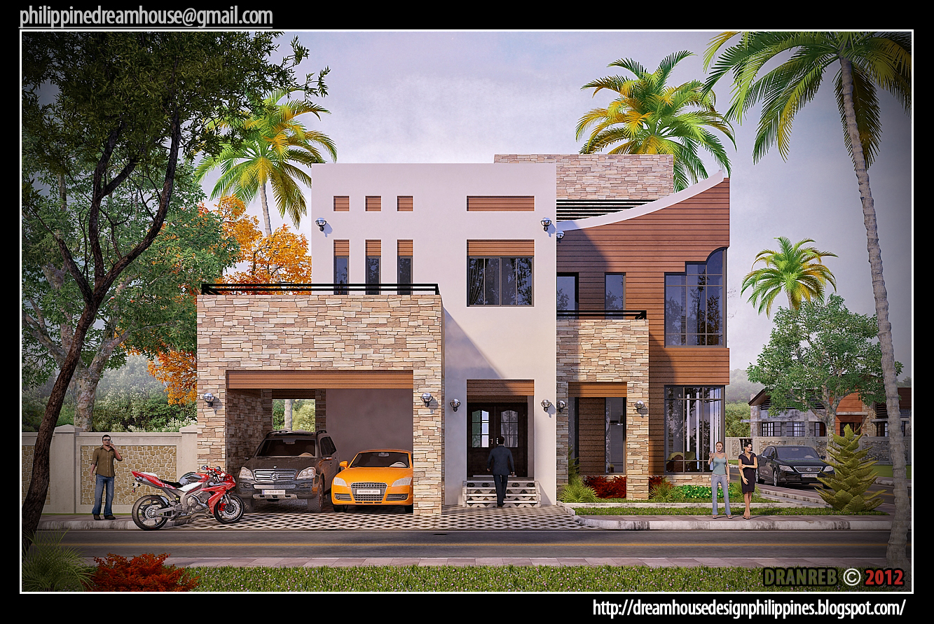 Philippine dream house design two storey house in cebu for Storey house designs