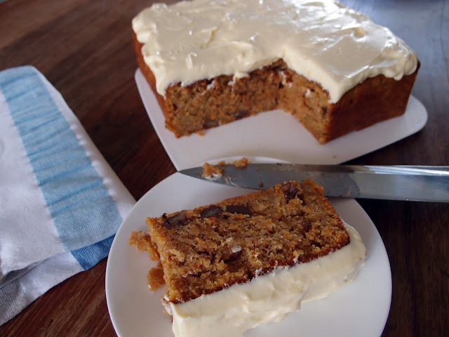 Milk and Honey: Carrot Cake with Lime Mascarpone Frosting
