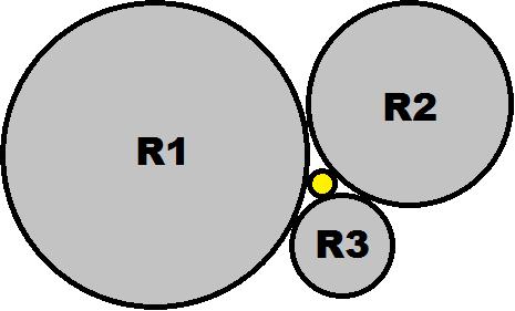 CIRCLE_E/Three Circle Problem