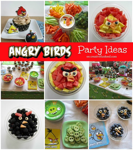 Angry Birds Birthday Party Ideas on creativefunfood.com!! :: Healthy ...