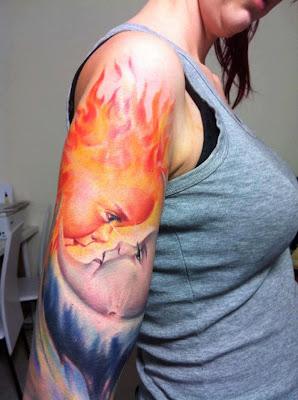 Tatuaje de sol y luna bebés